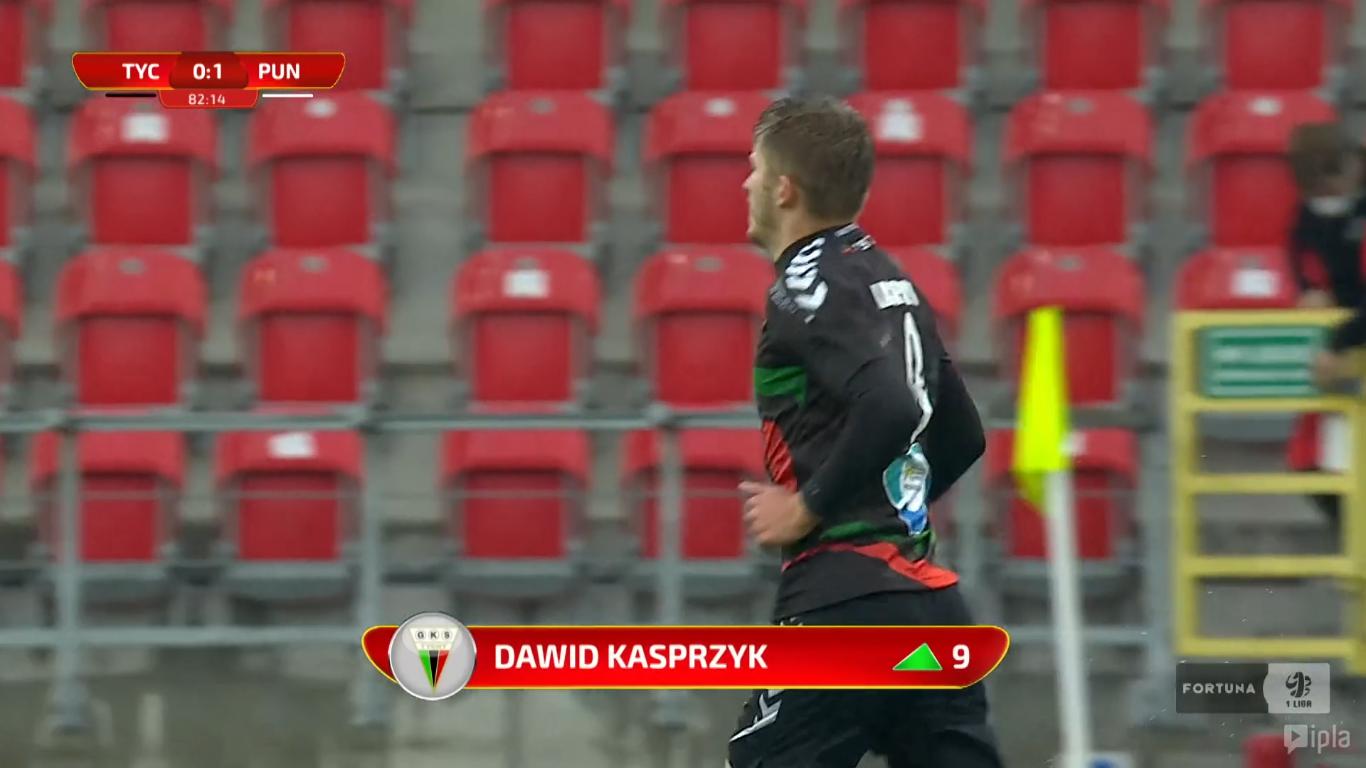 31. kolejka: GKS Tychy - Puszcza Niepołomice 0:1<br><br>fot. Polsat Sport / IPLA