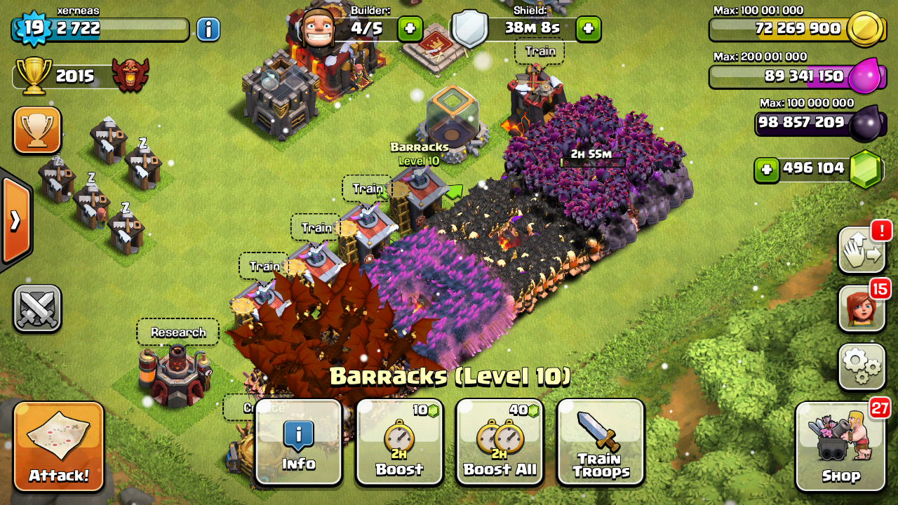 Download Clash of Clans Modded apk unlimited gems Clash of
