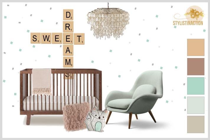 Ideas para cuartos de bebes no tradicionales. Clasico con tonos neutros
