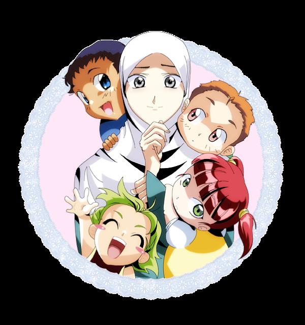 Kumpulan Gambar Animasi Ibu Dan Anak Muslimah Kumpulan Kartun