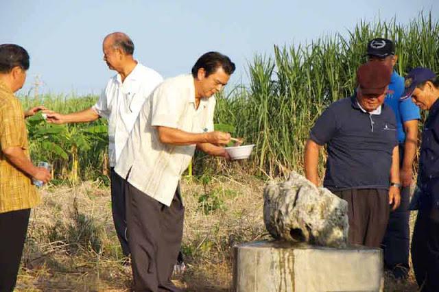 men, rituals, Shimakanka, Okinawa, Ginoza, statue, shisa, stone