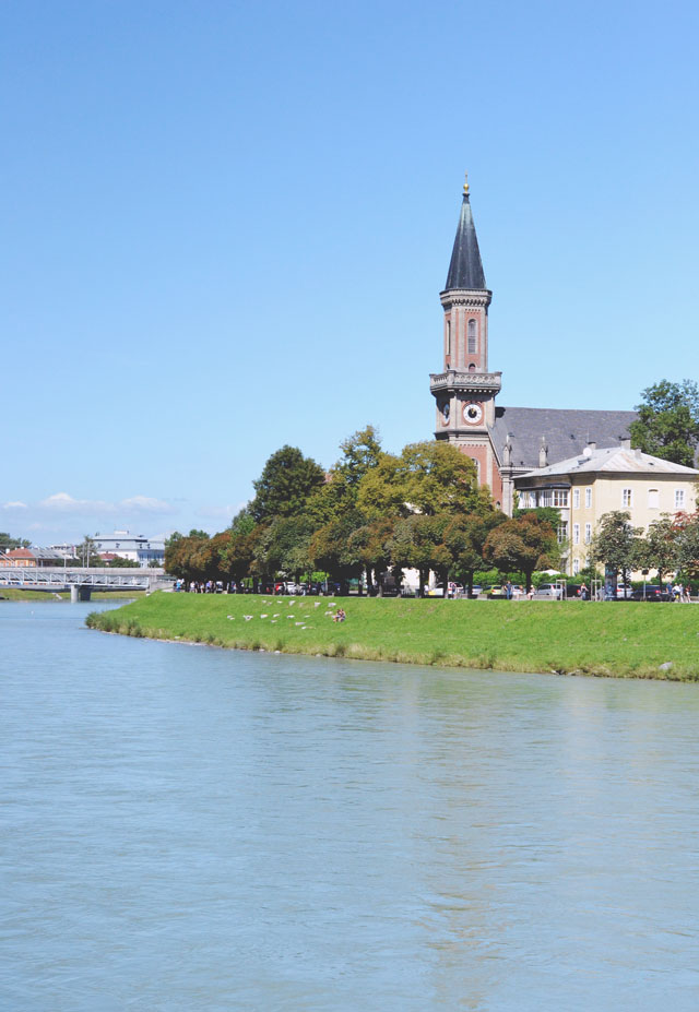 Salzburg Salzach River Church