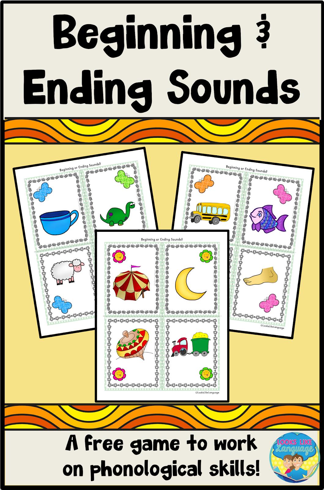Beginning Or Ending Sounds A Free Phonological Awareness Activity Week 1