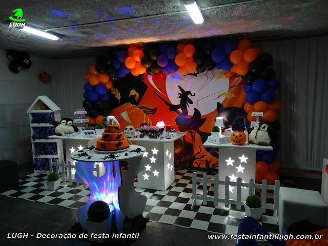 Decoração tema Halloween - Festa infantil - Mesa decorada provençal