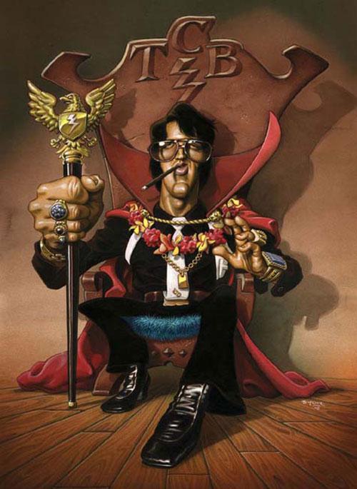 """""""Elvis Presley"""" por Santiago Dufour"""
