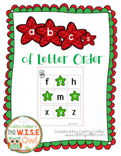 December Ready-made centers. Day 5: Letter Order Mats