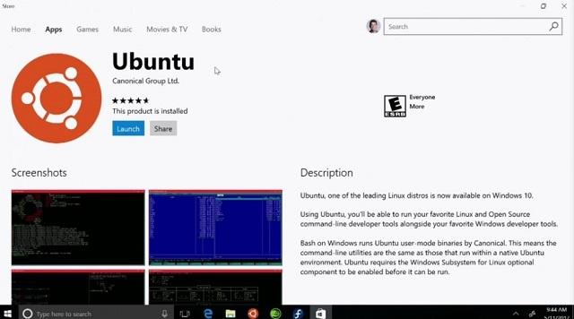 Ubuntu akan tersedia di Windows Store