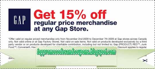 gap coupons printable