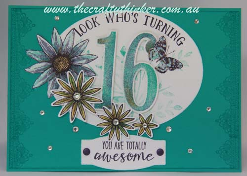 SU, 16th birthday card, wink of stella, 2016 Occasions, www.thecraftythinker.com.au