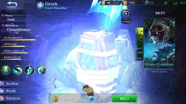 Gear Terkuat Hero Grock Mobile Legend Terbaru