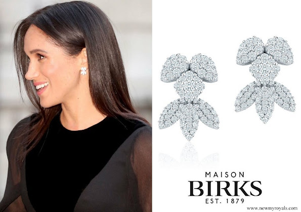 Meghan Markle wore Birks Snowflake Snowstorm Diamond Earrings