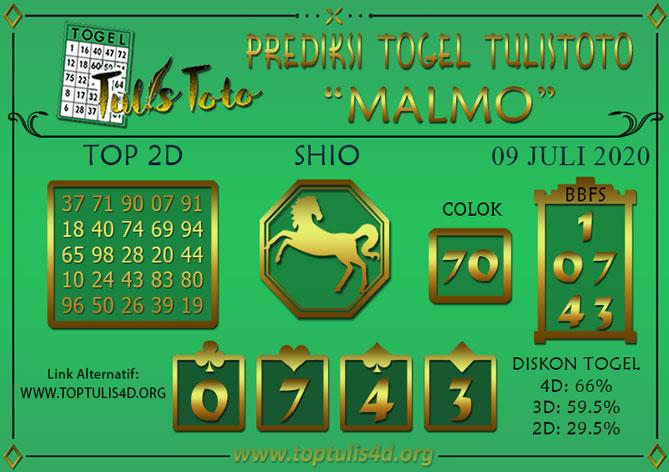 Prediksi Togel MALMO TULISTOTO 09 JULI 2020
