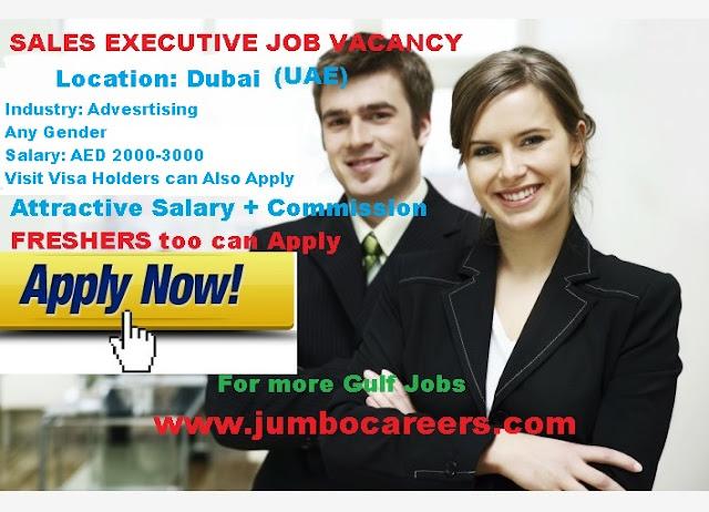 Latest sales openings at Dubai. Sales representatives salary in Dubai 2018.