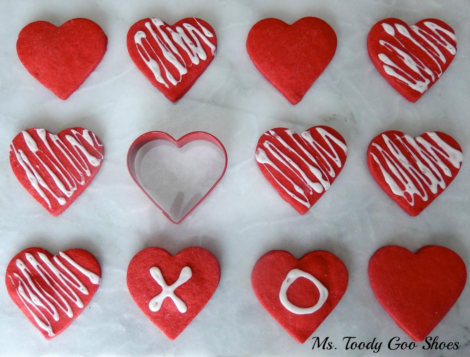 Shortbread Heart Cookies  -- Ms. Toody Goo Shoes