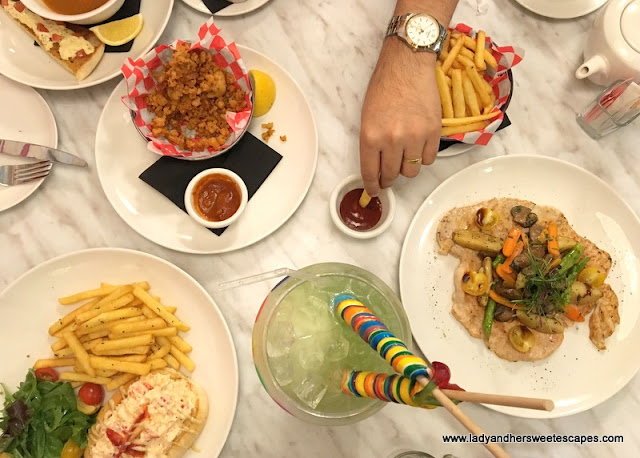 Sugar Factory savory dishes
