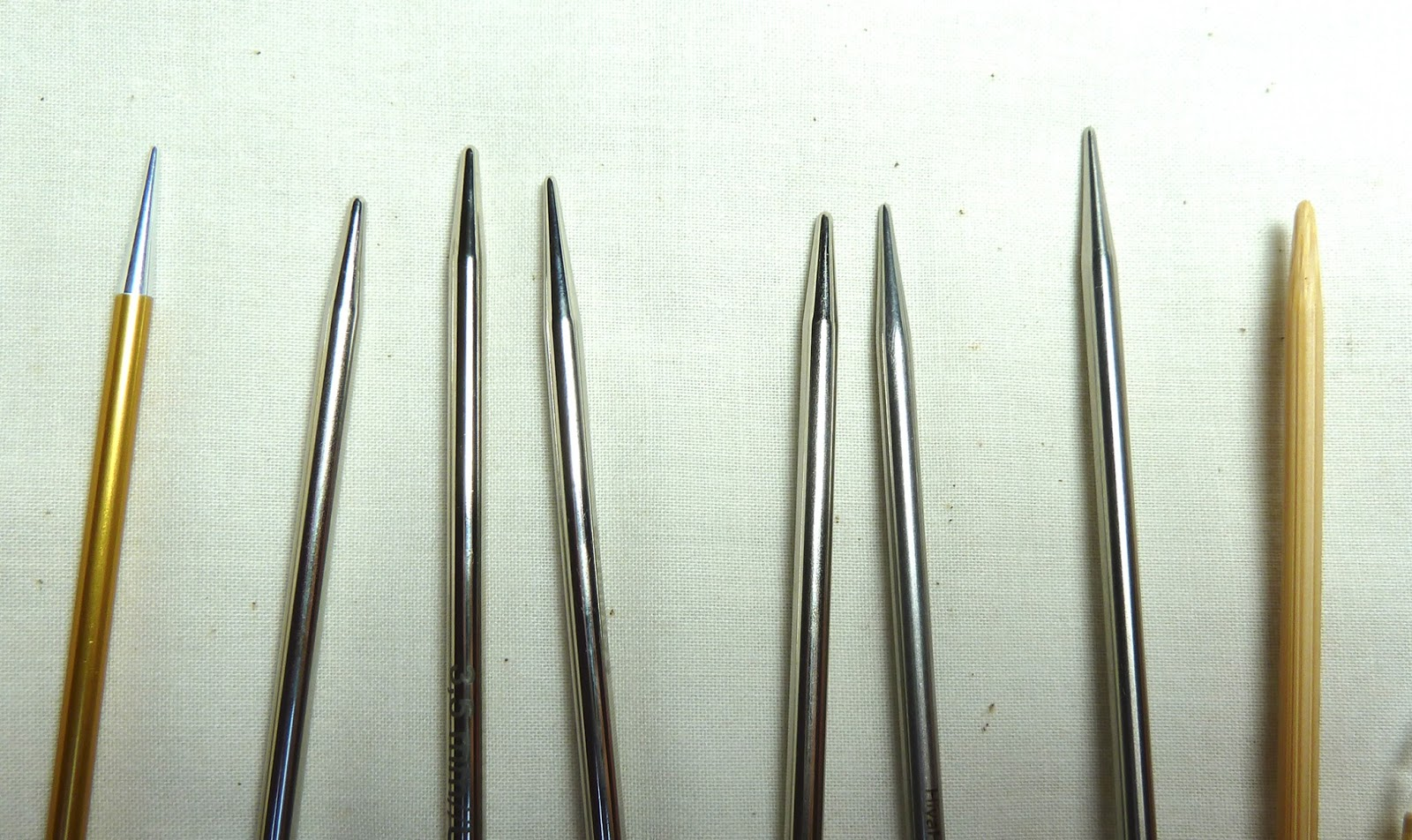 Circular knitting needle comparison for Knitting needles paint exterior