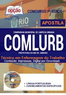 Apostila Concurso COMLURB (RJ) Rio de Janeiro, Técnico em Enfermagem do Trabalho, PDF