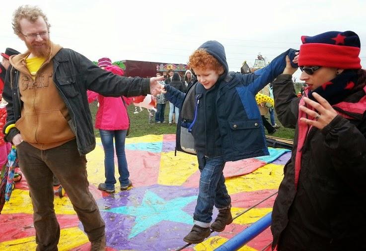 3 year old circus skills tightrope walking