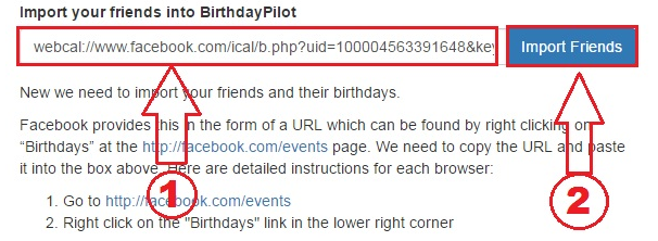 Step6: Ab thoda neeche aapko apne fb event page par Birthdays ko option show hoga, us par right click karke uske link ko copy kar le.