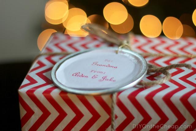 Mason Jar Lid Gift Tags