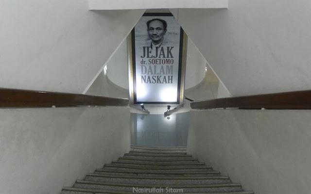 Salah satu lorong anak tangga di museum perjuangan