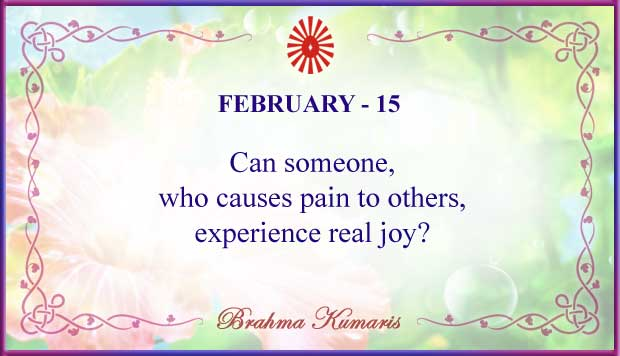 Thought For The Day February 15