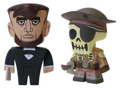 Disney Vinylmation Park Starz Series 1 - President Abraham Lincoln & a Skeleton Pirate from Pirates of the Caribbean