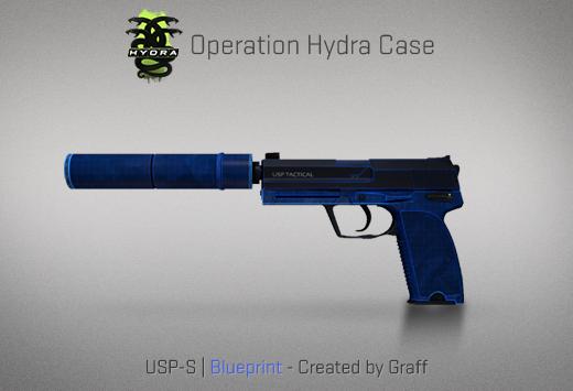 Operation Hydra Case - USP-S | Blueprint