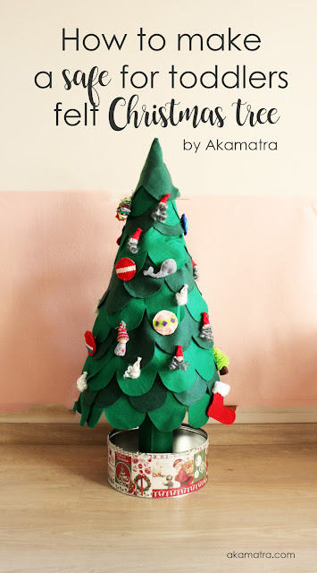 How to make a toddler safe Christmas tree from felt