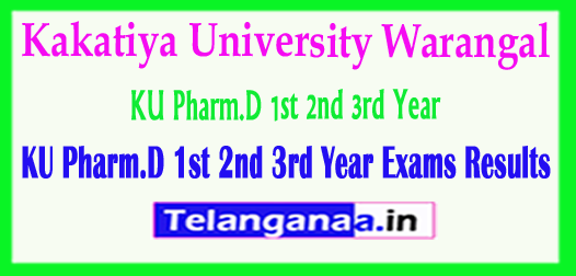 KU Pharm.D 1st 2nd 3rd Year Kakatiya University Pharm.D 1st 2nd 3rd Year Exams 2018 Results Download