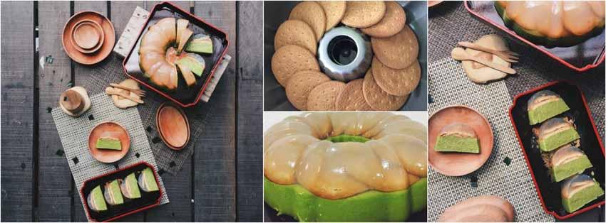 Resep Membuat Puding Brownies Pandan Lapis Regal by Christine Triyana Djiono