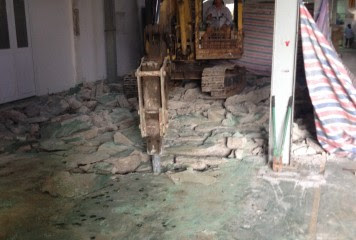 Khoan cắt bê tông khu công nghiệp Linh Trung 1