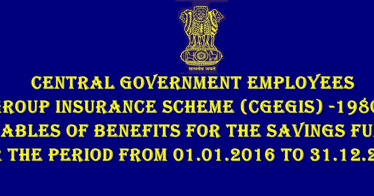 Central Government Employees Group Insurance Scheme ...
