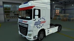 Eurosport DAF Euro 6 skin