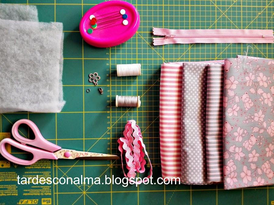 DIY, turorial, costura, patchwork, moldes, paso a paso, neceser, fácil, barato
