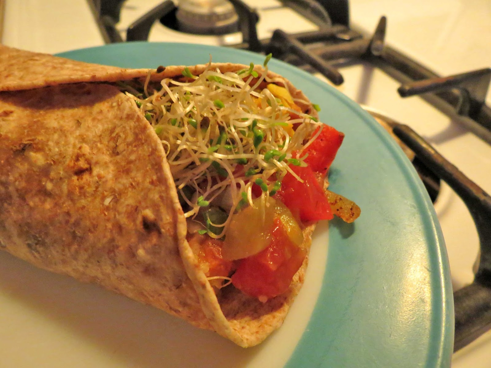 vegetable fajita burrito