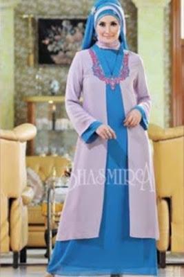 Model Baju Gamis Muslim Artis Modern Terbaru