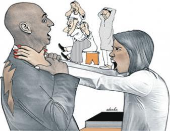wife tears pastor clothe church member