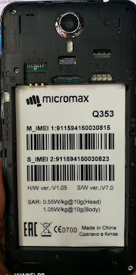 Micromax Q353 Flash File MT6580 Firmware Download Tested