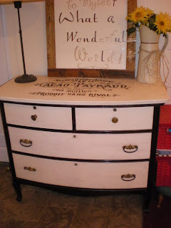 DIY chalk paint stencil dresser