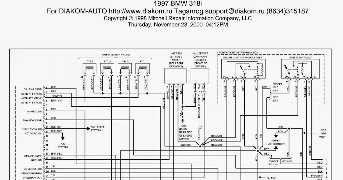 Wiring Diagrams and Free Manual Ebooks: 1997 BMW 318i 1.9L