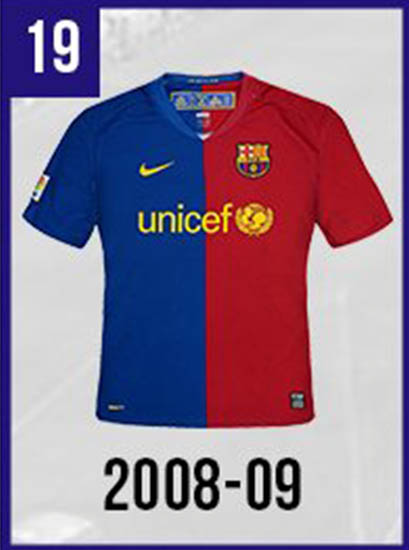 new styles 992ac 6ce1b Full FC Barcelona Home & Away Kit History - Including 80+ ...