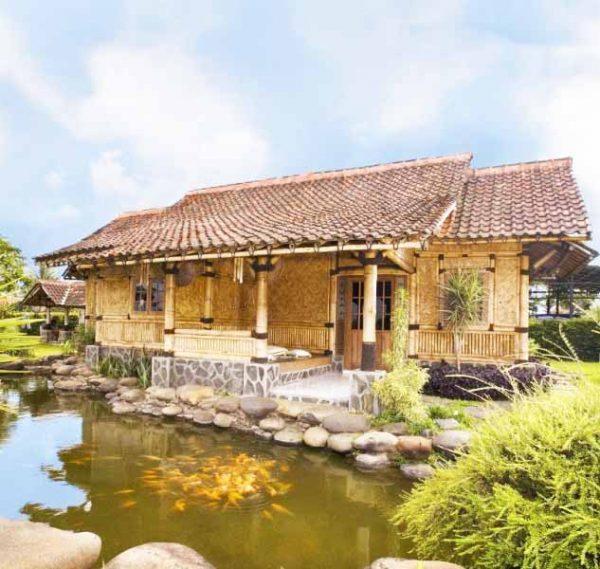 103 Gambar Desain Rumah Bambu Murah Gratis Terbaik Download