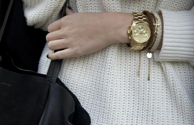 4bd9448b12  sweater - AMERICAN APPAREL   scarf - H M   shoes - MANGO   jeans - LEVIS    bag - CELINE   watch - MICHAEL KORS