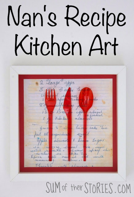 Nan's recipe kitchen art