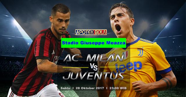 AC Milan vs Juventus 28 Oktober 2017