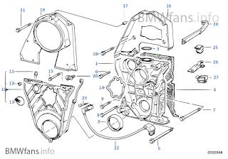 BMW E36 SOLUTION: Part mesin BMW E36 M40 Bag 4