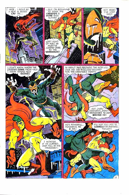 Beware the Creeper v1 #1 dc 1960s silver age comic book page art by Steve Ditko