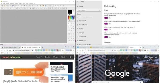 قم بتقسيم شاشة حاسوبك إلى عدة نوافذ لتشغيل عدة برامج في آن واحد
