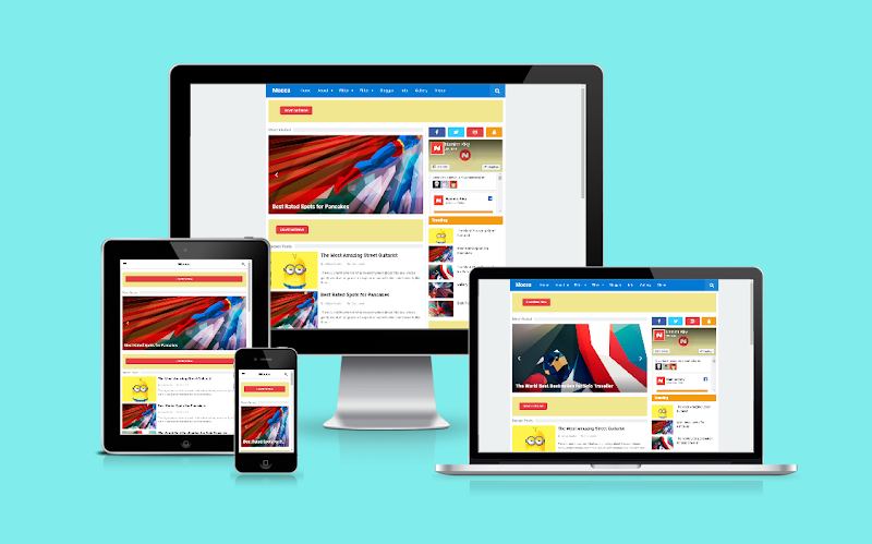 Mocca Pro Responsive Blogger Template - Responsive Blogger Template